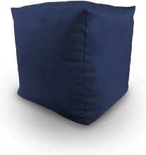 Maley Pouffe Ebern Designs Upholstery Colour: Navy