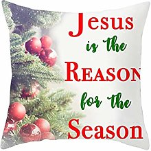 Malinmay Cushion Covers, Polyester Christmas Tree