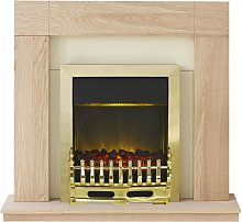 Malmo Fireplace Suite in Oak with Blenheim