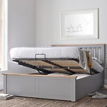 Malmo Grey Wooden Ottoman Bed - 5ft King Size