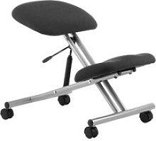 Malmo Kneeling Chair Silver Frame, Black, Free