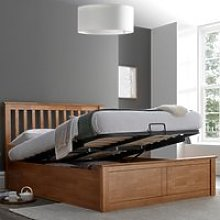Malmo Oak Wooden Ottoman Bed Frame - 4ft6 Double