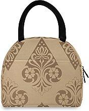 MALPLENA Lunch Bag Gold Vintage Royal Texture