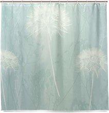 MALPLENA Shower Curtain Arthouse Dandelion Haze