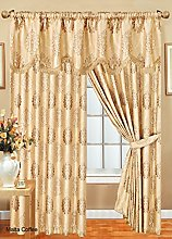 Malta Fully Lined Pencil Pleat Jacquard Curtains
