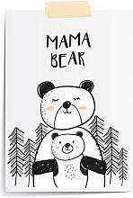 Mama Bear Cute Wall Art Print | Beautiful Gift for