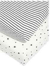 Mamas & Papas 2 Cot/Bed Fitted Sheets - Starry