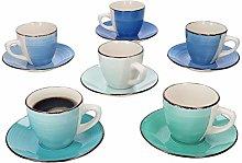 MamboCat 12-Piece Set Coffee Set Blue Curacao I 6