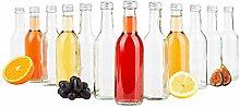 MamboCat Set of 12 Bordeaux Bottle Clear + Silver