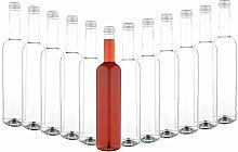 MamboCat Set of 12 Glass Bottles Pinta 500 ml +