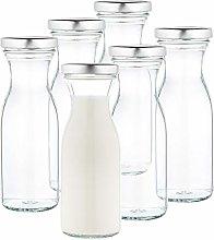 MamboCat Set of 6 Milk Bottles 250 ml + Twist-Off