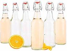 MamboCat Set of 6 Water Bottles 500 ml I Beer