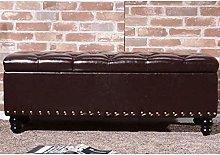 MAMINGBO Upholstered Seat Storage Ottoman