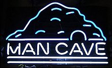 Man CAVE Real Glass Neon Light Sign Home Beer Bar