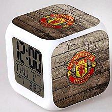 Manchester United Football Club 7 Colors LED Alarm