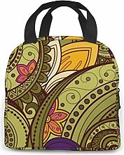 Mandala Blue Insulated Lunch Bag Reusable Lunch