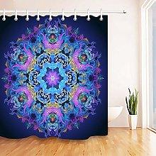 Mandala Buddha Bathroom Fabric Shower Curtain Set