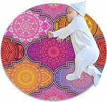 Mandala Combination Round area rug art decor