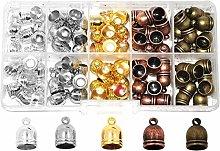 Mandala Crafts Metal Glue in Barrel End Caps,