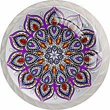 Mandala Design Element 4pcs Glass Cupboard