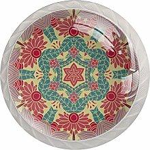 Mandala Drawer Knobs Pulls Cabinet Handle for