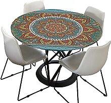 Mandala Round Tablecloth for Circular Table,