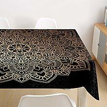 Mandala Tablecloth Waterproof with 4 clips, DOTBUY