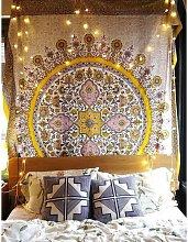 Mandala Tapestry Wall Hanging Medallion Yellow