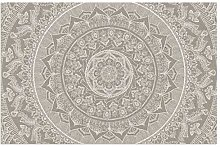 Mandala Taupe Dirt Trapper Door Mat for