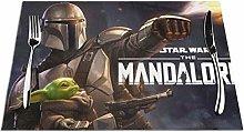 Mandalorian Yoda Table Mats Placemats Stain