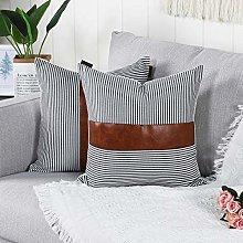 Mandioo Black Farmhouse Decorative Cushion Covers