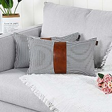 Mandioo Black Lumbar Farmhouse Decorative Cushion