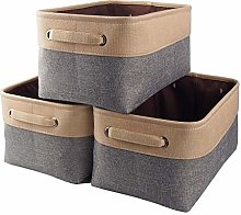 Mangata Canvas Storage Box 3 Pack, Fabric Storage