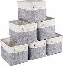 Mangata Canvas Storage Box 6 Pack, Small Fabric