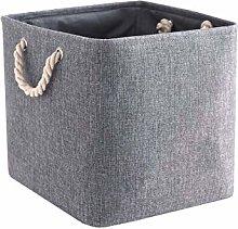 Mangata Fabric Storage Basket, Canvas Cube Storage