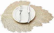 Mangata Gold Leaf Placemats, Heat Resistant