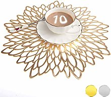 Mangata Gold Placemats, Large Round Table
