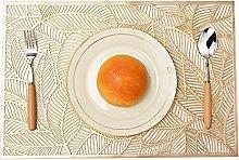 Mangata Gold Rectangle Placemat, Washable Kitchen