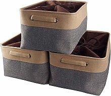 Mangata Jumbo Canvas Storage Box 3 Pack, Fabric