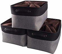 Mangata Large Canvas Storage Box 3 Pack, Fabric