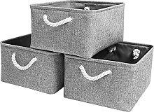 Mangata Large Storage Boxes, Fabric Basket Set of