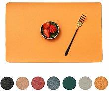 MANGATA PU Leather Placemats, Set of 6 Table Mats,