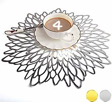 Mangata Silver Placemats, Large Round Table