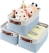 Mangata Storage Boxes, [3 Pack]Small Foldable