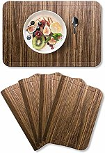 Mangata Table Mats, Washable Leather Placemats,