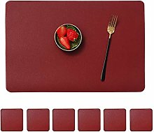 Mangata Wipeable Placemats, Non-slip PU Leather