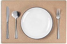 MANGATA Wipeable Placemats Set of 6, PVC Table