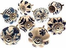 Mango Tree - Mixed Set of Blue & White Ceramic