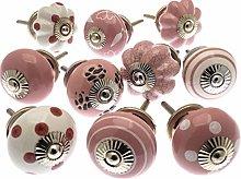 Mango Tree - Mixed Set of Pink & White Ceramic