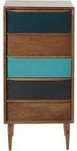 Mango Wood 5-Drawer Cabinet